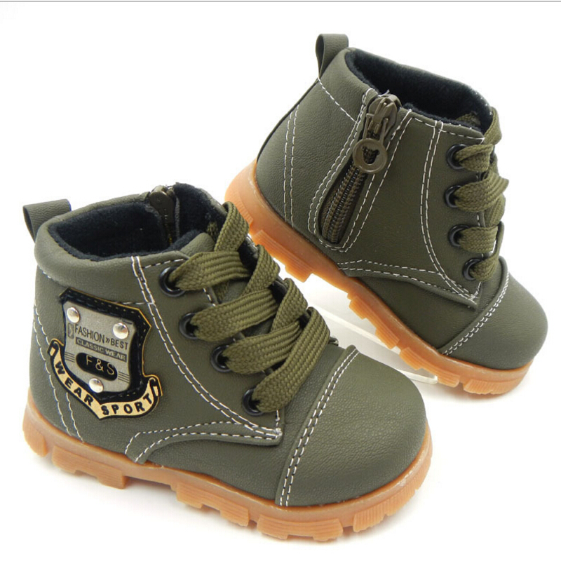 Spring-Autumn-children-Martin-boots-winter-New-boys-Flat-zipper-child-Lace-up-Snow-boots-girls-toddler-shoes-kids-sneakers-4