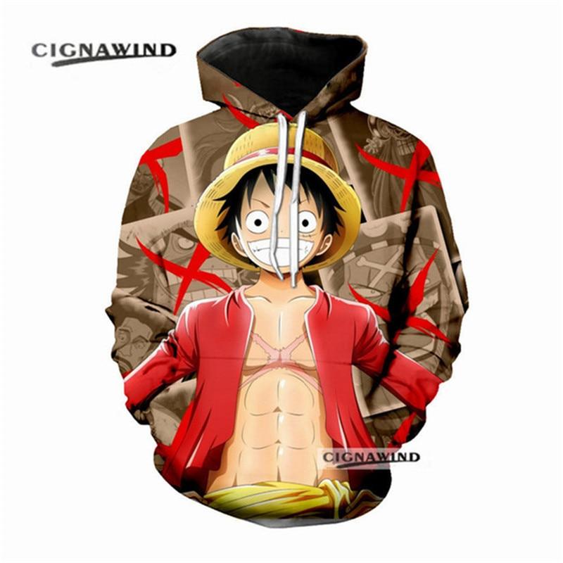 Anime Hoodies One Piece 3d Printed Hooded Hoodies Sweatshirts For Men Spring Antumn Zipper Monkey D Hoodies & Sweatshirts Luffy Jackets Cardigan Tops