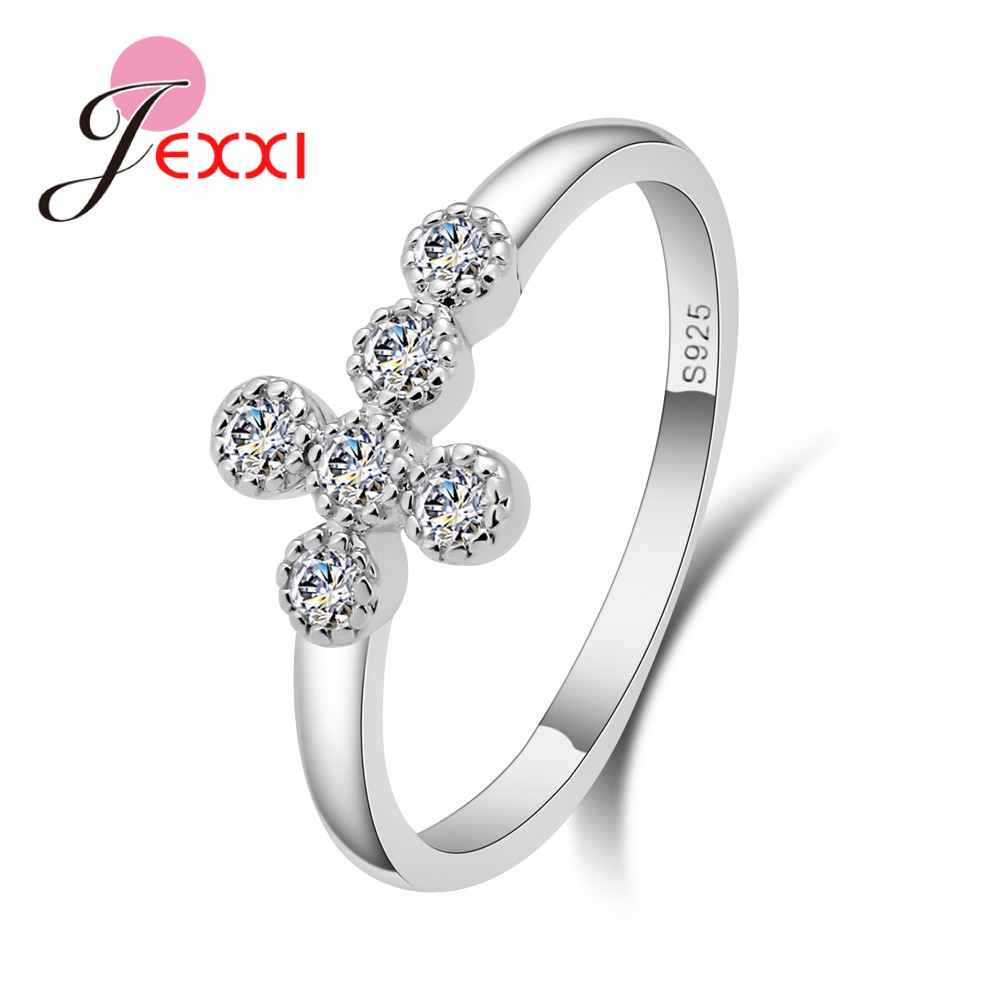 It is a picture of Lower Price Hot sale Cross Rings High Quality Silver Simple Plain Wedding Band For Men And Women Propose Rings