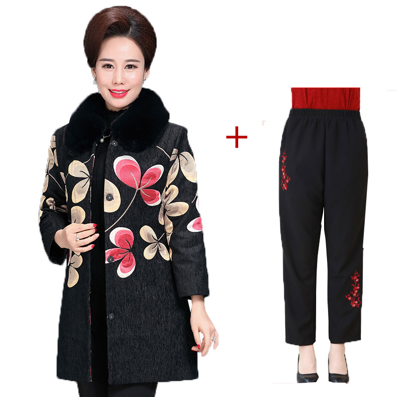 Manteau Femme Hiver Fur collar Middle-aged Plus Size Winter Wool Coat Women 2017 New Thicker Fashion Female Woolen Jacket Casaco plus size women cotton clothing 2017new irregular coats jacket thicker casaco feminino fashion top outerwear abrigos mujer 1044