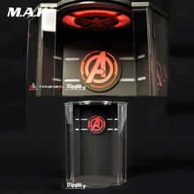 41CM HIGH 1:6 transparent dust proof box/display case 1/6 display box FOR The Avengers Captain America with light F 12 figure f you box
