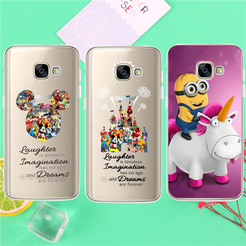 Castle Unicorn mouse head Case For Samsung Galaxy S5 S6 S7 Edge S8 Plus A3 A5 J1 J2 J3 J ...