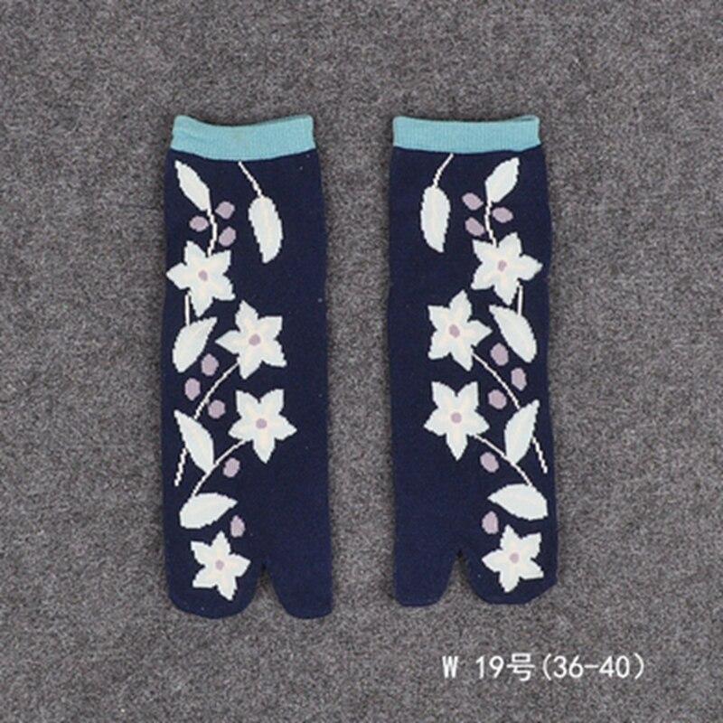1 Impresión Samurái Mujeres De 0wnopk Calcetines Corta Par Sandalia L35ARj4