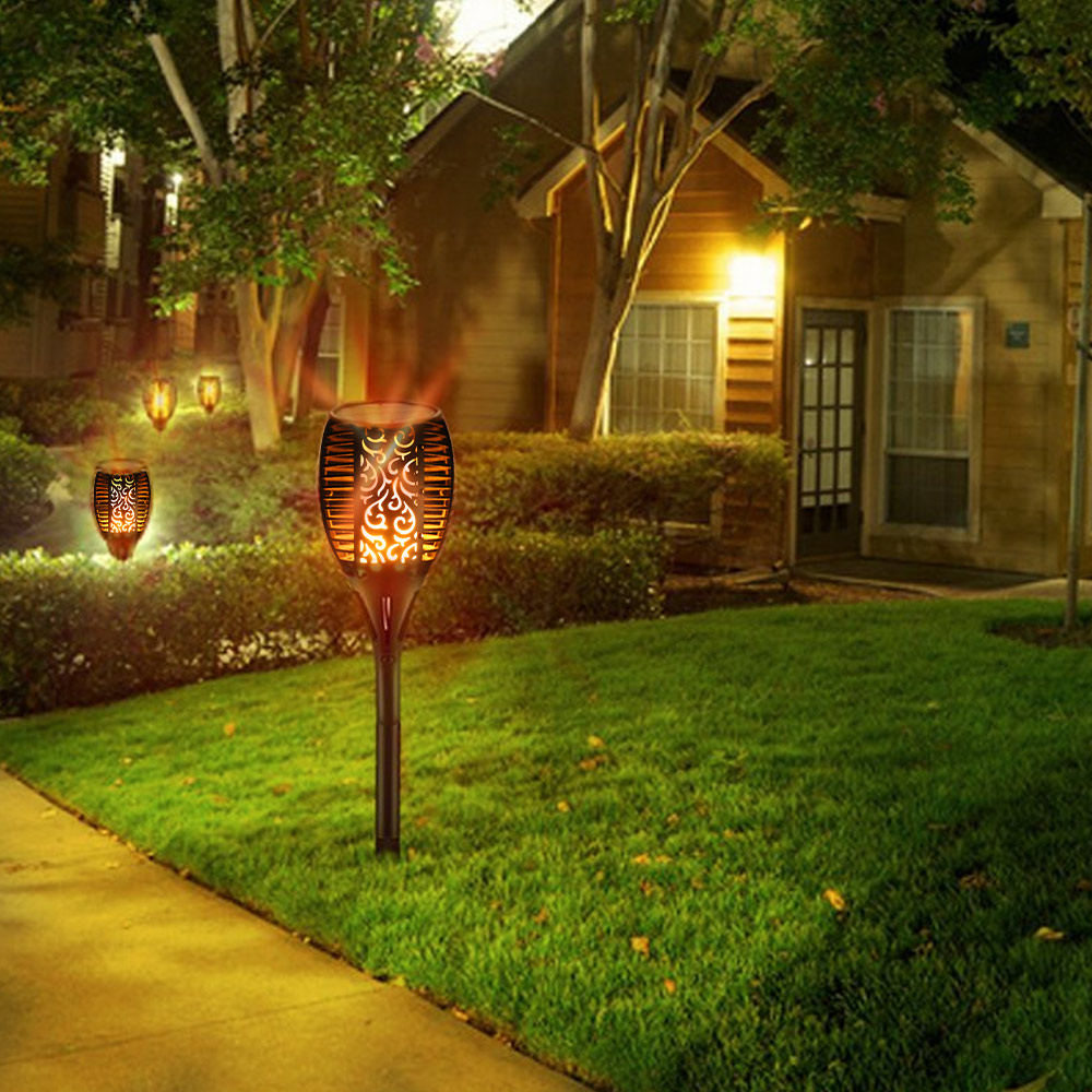 Utorch LED Solar Waterproof Flickering Flame Torch Light Outdoor Landscape Decoration Lighting
