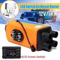 Audew автомобиля 5KW дизелей нагреватель 12 V парковка нагреватель с ЖК дисплей переключатель дистанционного Управление + глушитель для дом на к