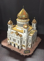 CubicFun 3D jigsaw puzzle Moscow Cathedral of Christ the Saviour building saint isaacs cathedral assembled model educational toy