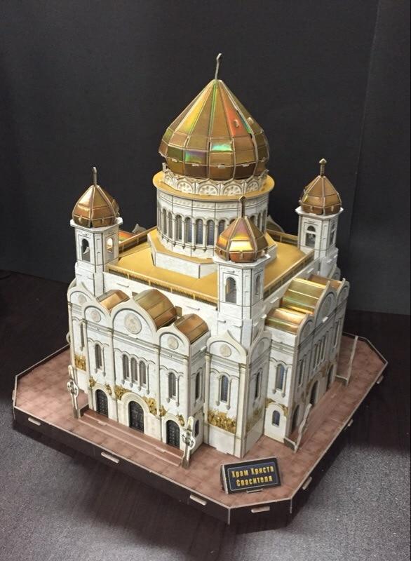 CubicFun 3D puzzle Moscou Cathédrale du Christ-Sauveur bâtiment saint isaacs cathédrale assemblé modèle jouet éducatif