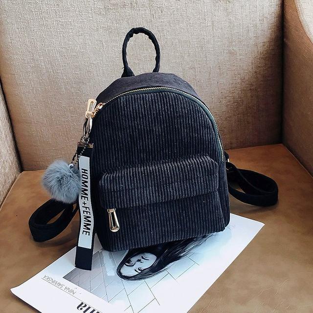 Cute velvet Backpack For Teenagers Children Mini Back Pack Kawaii Girls Kids Small Backpacks female Packbags Fur ball school bag (20)