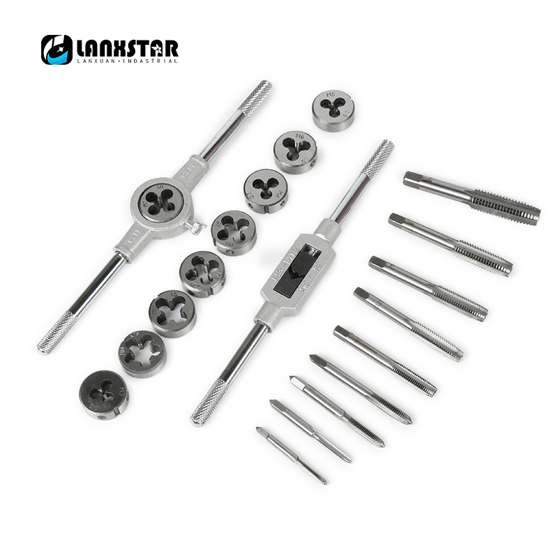 20pcs Inch or Metric system Tap Dies Set 1/2''-6''NC Screw Thread Plugs Taps Carbon Steel Hand Screw Taps Hand Tools hot sale 20pcs set tap and die m3 m12 screw thread metric plugs taps