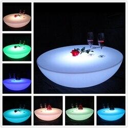 D23.62in * H7.87in colorido juego de mesa de bar para exteriores led muebles de plástico batería de mesa redonda SK-LF17 (D60 * H20cm) Envío gratis 1 ud.