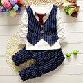 2016 Весна Дети Корейский мальчик ребенок галстук жилет костюм-тройку является фаворитом ребенка весной одежды с длинными с длинными рукавами шею стиль