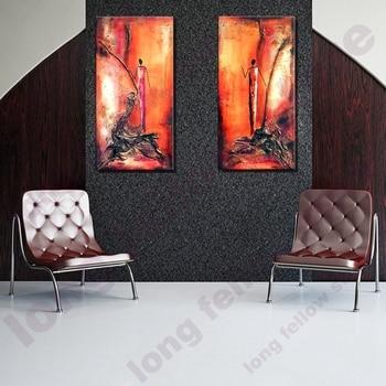 Cuadros grandes pared arte impresión paisaje abstracto lienzo ...