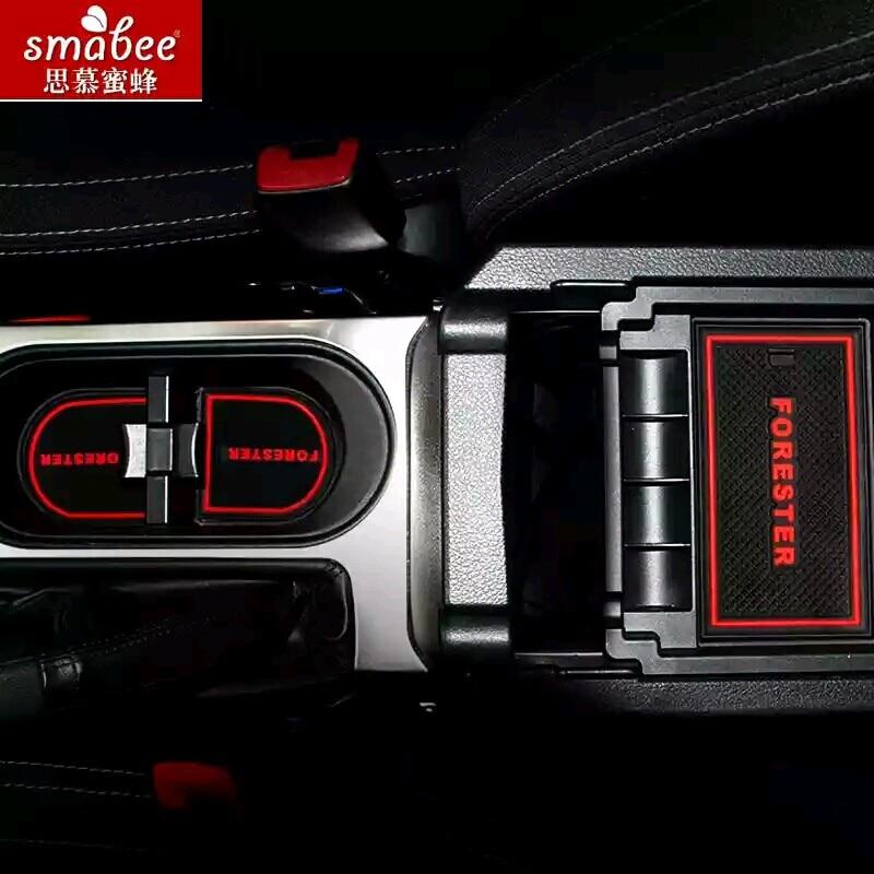 13 teile/satz Für Subaru Forester 2009-2016, Autozubehör 3D Gummi Matte antirutschmatte Innen Tasse Pad Tür Nut Matte Smabee