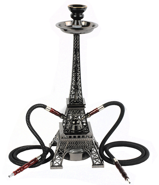 Metal shisha Water hookah creative Eiffel Tower 2 pipe for hookah52cm  sc 1 st  AliExpress.com & Metal shisha Water hookah creative Eiffel Tower 2 pipe for hookah ...