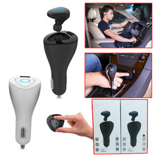 2 in 1 Bluetooth Earphone Car Charger Led Display Bluetooth Headset And Car Phone Charger