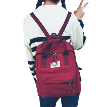 High quality Women Backpack Teenage girls Leisure bag Vintage Stylish School Bag Canvas Backpack Female