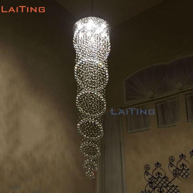 Moderne Ronde Cirkel Rvs Trap LED Plafondlamp, kristal Inbouw ...