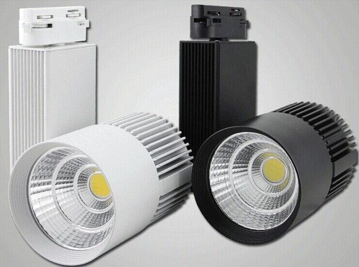 цены  Free Shipping White Black COB LED track light 30W LED track spot light ceiling LED track spotlight 30W LED track lamp AC85-265V
