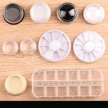 2pcs Nail Art Storage Case Rhinestones  Clear Plastic Empty Container For Rhinestones beads Organizer Box цена