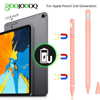 Silicone Case for Apple Pencil 2 Holder Sleeve Cover for iPad Pro 11 12.9 inch 2018 Apple Pencil 2nd Generation Stylus Pen Case