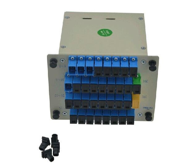 Sc UPC PLC 1 X 32 одномодового блок-разветвитель 1 X 32 PLC волоконно-оптический разветвитель FTTH PLC сплиттер с SC / UPC разъем