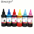 Novo e melhorado universal dye ink para epson inkjet printer 6 cores 100 ml/bottle tinta corante refil