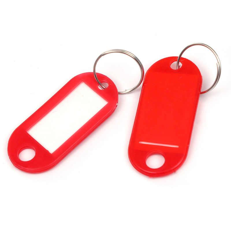 분류 카드 튼튼한 플라스틱 키 라벨 수하물 태그 멀티 컬러 옵션 키 체인 맞춤 라벨 키 링 카드