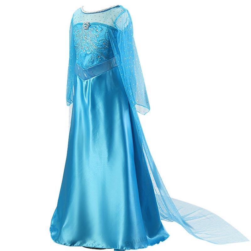 Girls Fantasia Elsa Dress Costumes for Kids Anna Dress Snow Queen Costume Cosplay Princess Children Party Dresses