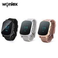 Wonlex 2019 gsm gps assista tracker 0.96 polegada tela gw700 smartwatch telefone sos criança rastreamento relógios frete grátis