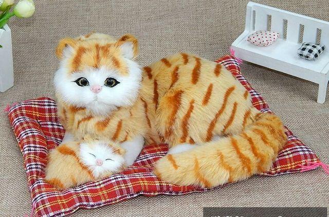 simulation yellow cat sounds miaow,polyethylene&furs about ...