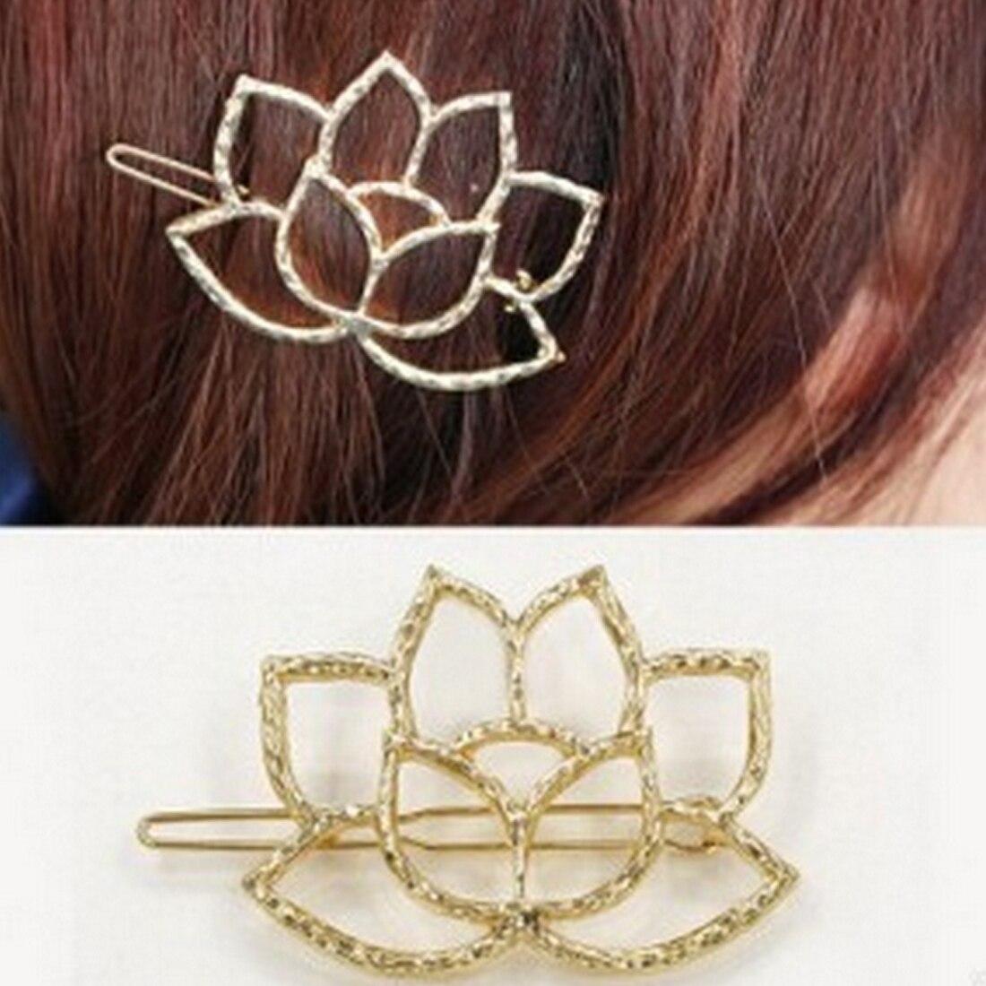 Heart Like Lotus Flowers Qingwen Art Metal Lotus Modeling Retro Hairpin Hair Clip Bridal Hair Jewelry Hair Pins in Women 39 s Hair Accessories from Apparel Accessories