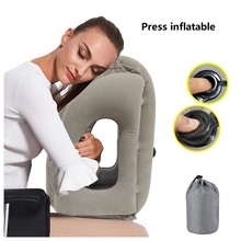 Press-type Automatic Inflatable Pillow Outdoor Travel Train Plane Car Office Lunch Break Sleeping