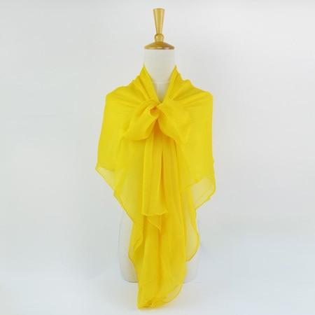 Жатый шелк жоржетовый длинный шарф 110 см X 180 см Чистый шелковый шарф женский однотонный цвет изделия из шифона в большом размере шарф - Цвет: 07