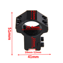1 Pcs 11mm dovetail rail mounts hunting mount for rifle scope ring 25.4mm Rifle Scope Mount Ring Weaver Mounts Accessories цена 2017