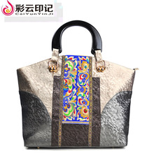 Chinese National Style Embroidery Bag Designer Bags Famous Brand Women Bags 2017 Marque De Luxe