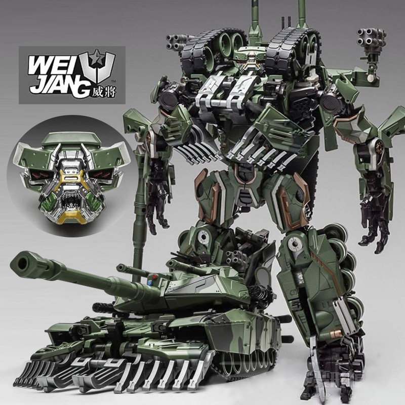 цена Brawl Transformation Alloy Oversize SS Leader Camouflage Tank M1A1 Mode KO Action Figure Robot Toys