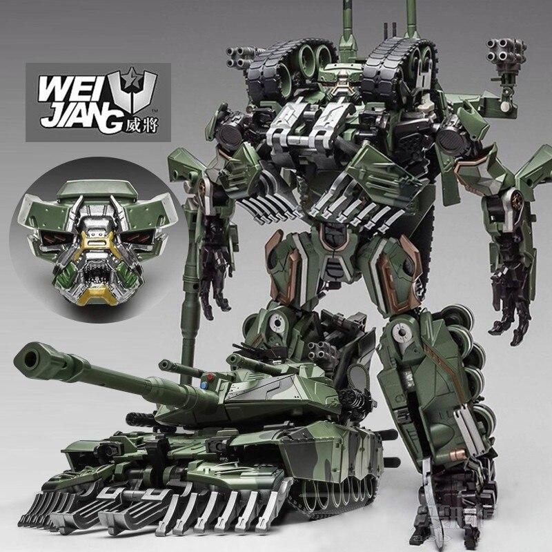 شجار التحول سبائك المعتاد SS زعيم التمويه خزان M1A1 وضع KO عمل الشكل ألعاب روبوتية-في شخصيات دمى وحركة من الألعاب والهوايات على  مجموعة 1