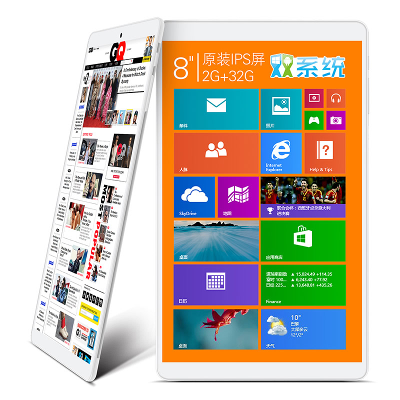 Newest Original 8inch Teclast X80Hdual system Tablet PC Z3735F Quad Core 1280X800 IPS Screen 2GB 32GB