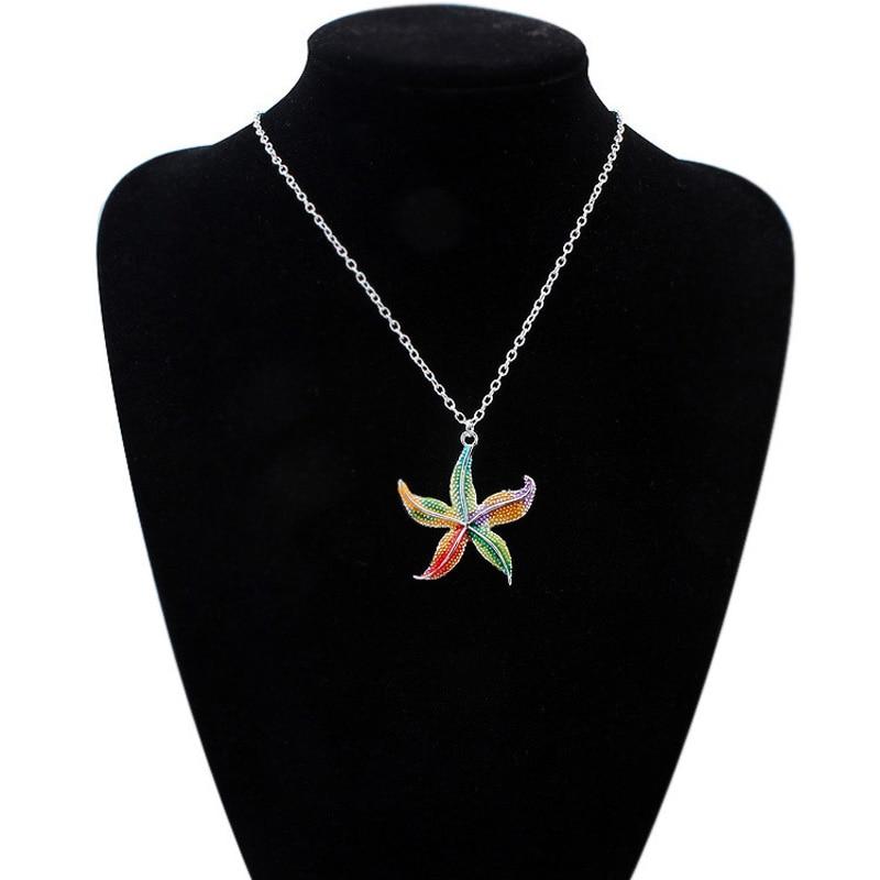 8d5da03d € 12.58  Starfish diseño mujeres Juegos de joyería Accesorios para Niñas  collar marca moda Pendientes set regalo del profesor de la joyería ...