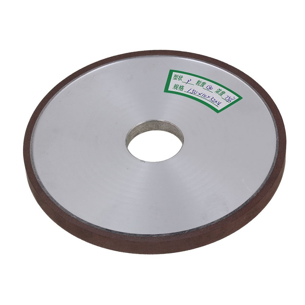 180# Grit Flat Disc Straight 150x32mmSilver Diamond Aluminum Resin Grinder Thickness 10mm Grinding Wheel