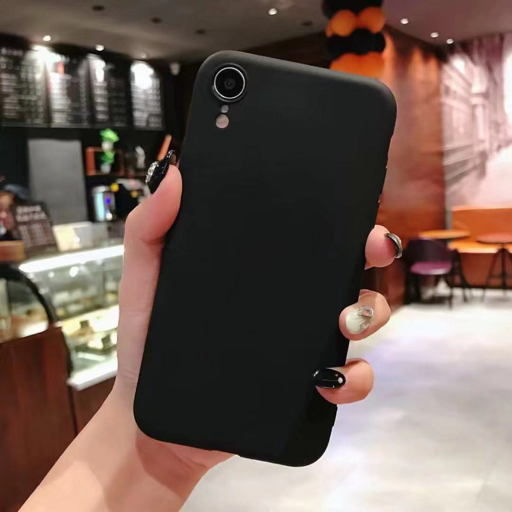 Candy soft TPU mobile phone case for iphone 7 8 6 6s X 10 XR XS max for iphone 5 5s se All soft funds phone back case capa coque in Fitted Cases from Cellphones Telecommunications