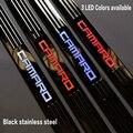 Черный Нержавеющей стали Светодиодные Дверной Порог Скребок Обложка для Chevy Chevrolet Camaro 2010 2011 2012 2013 2014 2015 автомобиль для укладки