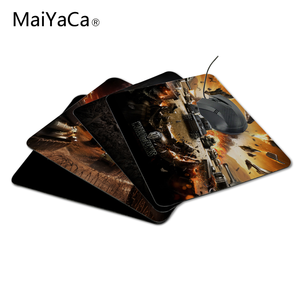 MaiYaCa Custom High Speed ​​New World of Tanks Juego Cojín de ratón con estilo Vintage Juego Rectangle Mousepad