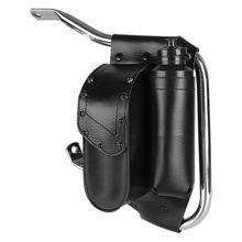 Black Crash Bar Bag + Water Bottle Holder For Harley Touring Electra Road Street Glide FLH FLTR FLHR W/ Saddlebag Guard