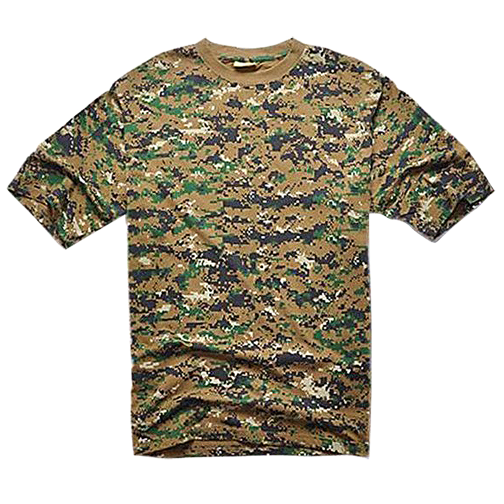 ELOS-Outdoors Hunting Camouflage T-shirt Men Army Tactical Combat T Shirt Military Dry S ...
