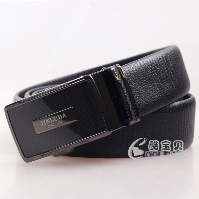 54f7a2ee45a JINLUDA Cowhide leather men s Current belt Counters authentic Special  packages mailed Factory direct sale Automatic buckle belts