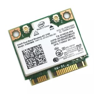 Image 2 - Dual Band wireless ac dla Intel 3160 3160HMW 802.11ac Wifi + Bluetooth 4.0 Mini Karta PCI E 2.4G i 5 ghz 802.11a/b/g/n/AC