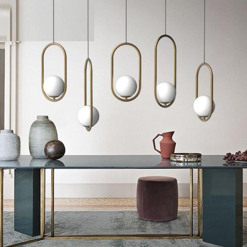 bola de vidro lustre criativo estudio de design nordico sala de cabeceira luzes penduradas ailse cafe