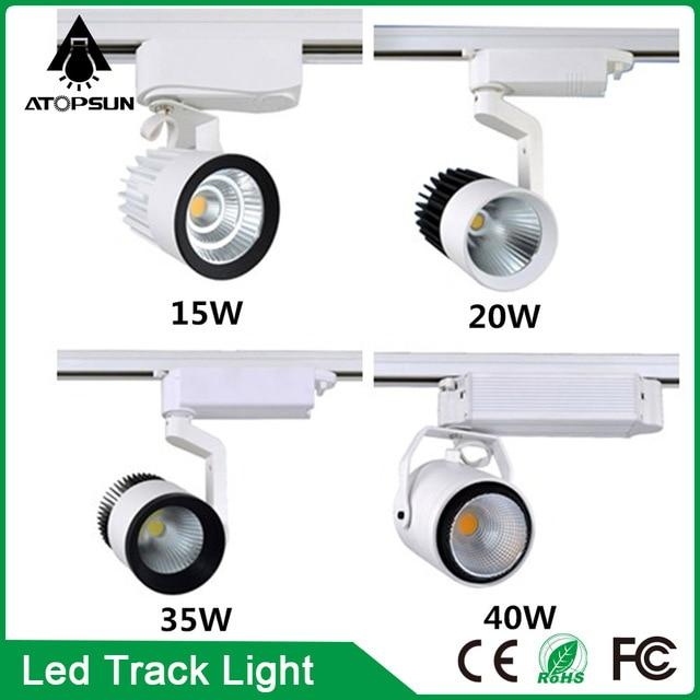 6PCS LED COB Track Light 15W 20W 35W 40W Ceiling Rail Lights Spotlight Clothes Shop Gallery Market Commercial Indoor Lighting