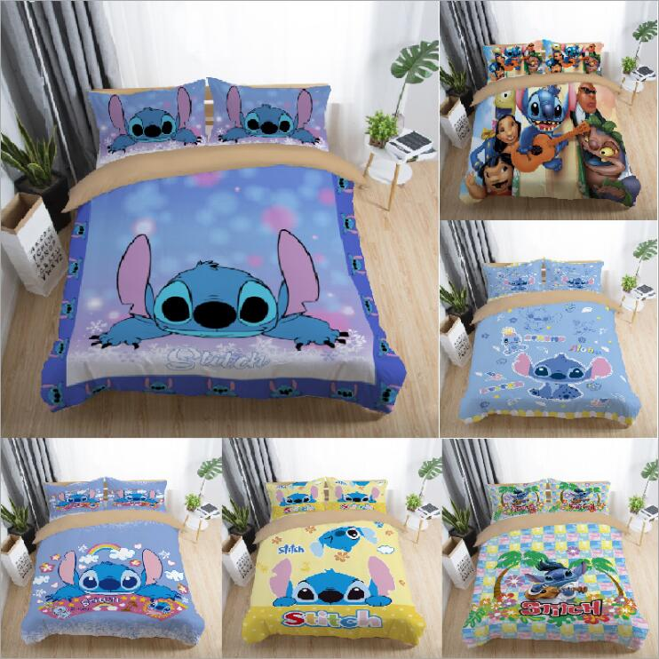 Bedding Set Cute stitch interstellar baby cartoon personality European style 2 3pcs soft Duvet Cover Sets Pillowcase in Bedding Sets from Home Garden